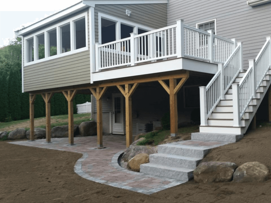 Four Season Room Addition With Deck