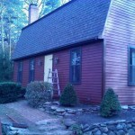 50 Year Certainteed roof and barn red stain in Wrentham, Ma