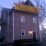Certainteed Monogram vinyl siding in the color clay and Harvey windows in North Attleboro, Ma
