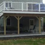 Composite deck in Canton, Ma
