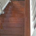 Picture framed exterior stair well in Wrentham, Ma