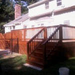 deck install in Mansfield, Ma