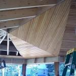 fir beadboard ceiling