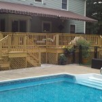 pressure treated deck and awnings in Mansfield, Ma