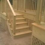 pressure treated stairs