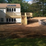 skid steer work and new deck in Franklin, ma